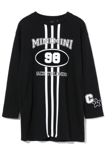 """Mini cream black """"98"""" long sweatshirt 0E615AAA00844FGS_1"""