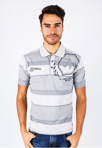 Johnwin - Slim Fit - Polo Shirt - White/Gray.