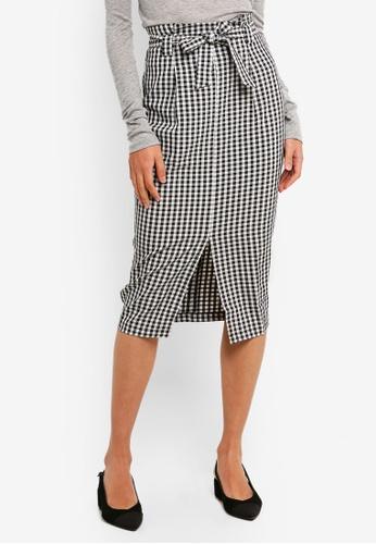 FORCAST black Meadow Tie Waist Skirt 51D57AA0A0A02FGS_1