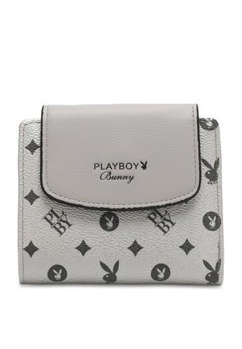 PLAYBOY BUNNY silver Monogram Short Purse A951CAC5652FE5GS_1
