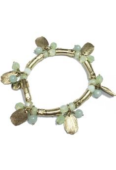 Bohm Seafoam Semi Precious Stone Accent Bracelet in Gold