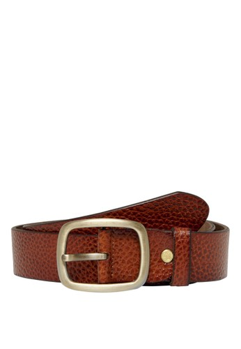 Only & Sons brown Cody Vintage Leather Belt 73931AC2E9DD0FGS_1
