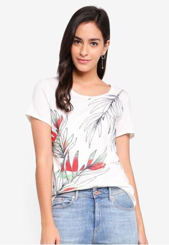 Vero Moda white Flora SS Top Ga 03916AAA310B59GS_1