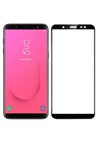 MobileHub black 5D Full Screen Tempered Glass Curved Screen Protector for Samsung J8 2018 F6575AC6209F96GS_1