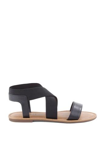 Anacapri 黑色 彈性平底涼鞋 7F2A6SH4E7043BGS_1