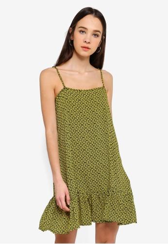 Cotton On yellow Woven Leni Frill Hem Mini Dress C04B5AA39813E0GS_1
