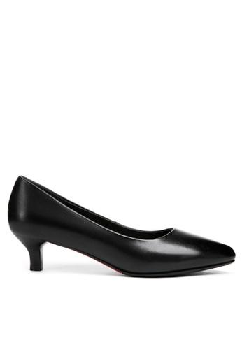 Twenty Eight Shoes black Leather Uniform Pointy Pumps 751 CBA1ESHC8BA9DAGS_1