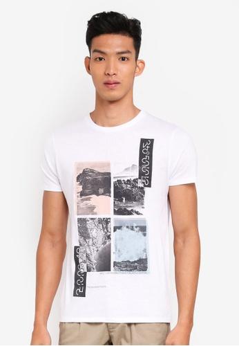 OVS 白色 休閒印花T恤 1ECF0AA76F0F44GS_1