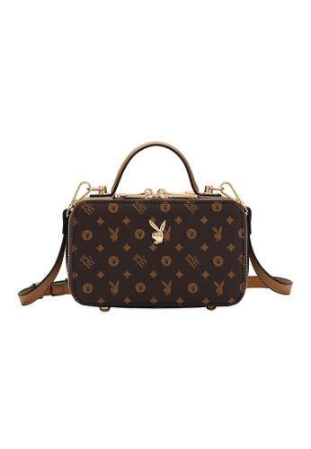 PLAYBOY BUNNY brown Playboy Bunny Monogram Sling Bag B8434AC102A308GS_1