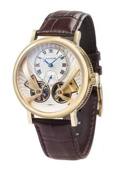 Thomas Earnshaw Men's Genuine Leather Strap Watch - ES-8059-02