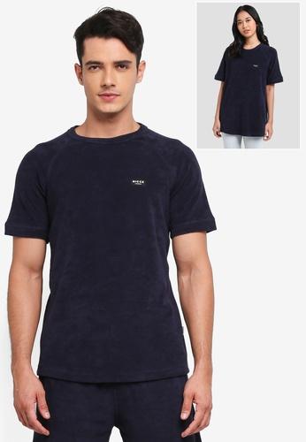 Nicce London navy Rise T-Shirt B6DD6AAD708ECAGS_1