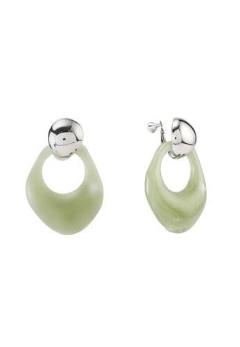 LOWRYS FARM green Resin Clip Earrings 09229ACB1DCDD7GS_1