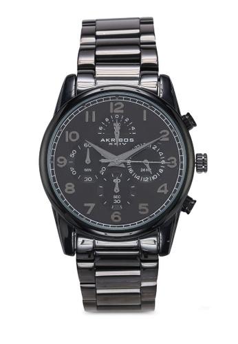 Akribos XXIV black Rugged Chronograph Watch 05548AC9E0D69EGS_1