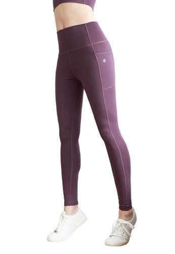 MARSHMARO purple MARSHMARO PANCAKE Full Length High Rise Active Leggings - Grape Soda 23149AA89A5053GS_1