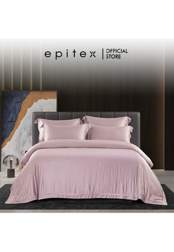 Epitex pink Epitex MD3031 1200TC Modal Dobby Fitted Sheet Set - Bedsheet Set - Bedding Set (Dusty Pink) - (w/o quilt cover) 0CC34HL49F7BEFGS_1