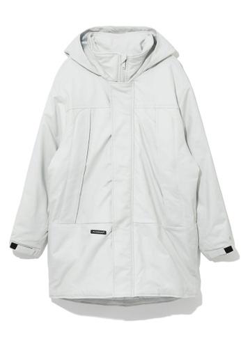 Fivecm grey Hidden Hat oversized zip jacket 407BFAA81AD386GS_1