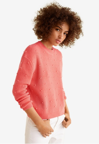 Mango pink Textured Knit Sweater 58D62AA8B42323GS_1