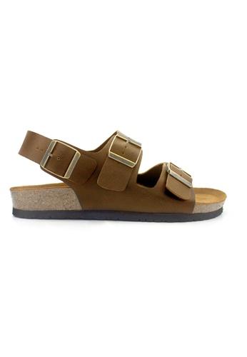 SoleSimple brown Milan - Camel Leather Sandals & Flip Flops 559C5SH25B094BGS_1