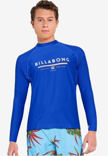 Billabong blue Unity Performance Fit Rashguard A1211AAAF94AEFGS_1