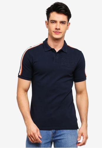Superdry 海軍藍色 條紋滾邊POLO衫 0AFD4AA62DD814GS_1