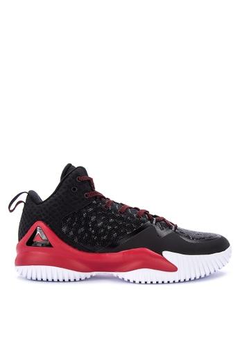 PEAK black and multi Streetball Master II Basketball Shoes 12BB2SHBEA1F01GS_1