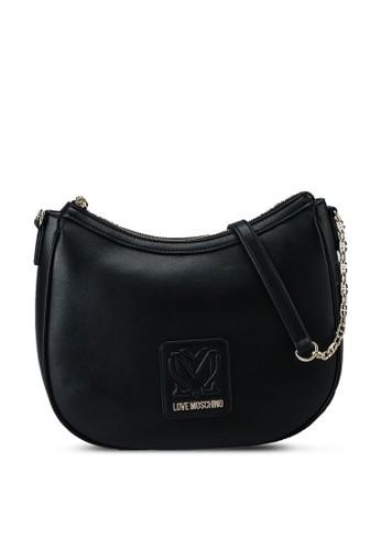 Love Moschino black Love Logo Chain Shoulder Bag 21E58AC39F7EDDGS_1