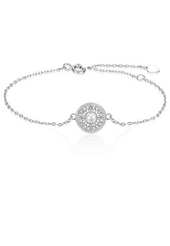 SUNSET 銀色 Premium 925 Sliver Pearl Bracelet FE751ACA25A900GS_1