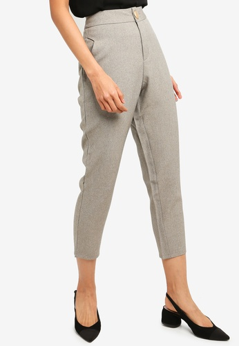 Kodz grey Cropped Tapered Pants 4B3E9AAA21CEE1GS_1