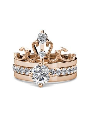 6357fe79506ac Royalty Ring (Rose Gold) - Crystals from Swarovski®