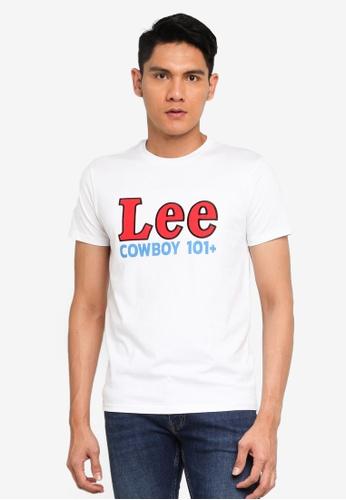 Lee white Cowboy Short Sleeve T-Shirt 95529AA03E6751GS_1