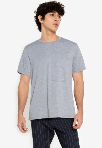 ZALORA BASICS grey Welt Patch Pocket T-Shirt 535F0AAE87FB16GS_1