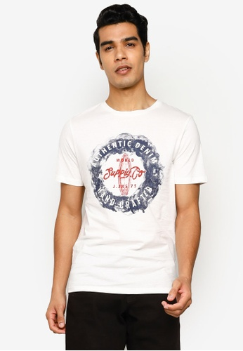 Jack & Jones white Jeans Faded Short Sleeve T-Shirt 8A6CAAA71D17C7GS_1