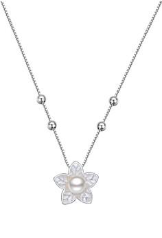 Pearl Leaf Stone Center Chain
