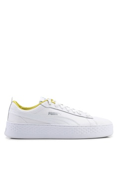af91d589116 Puma white Sportstyle Core Smash Platform Trailblazer Shoes  684B5SHF5B1ECEGS 1