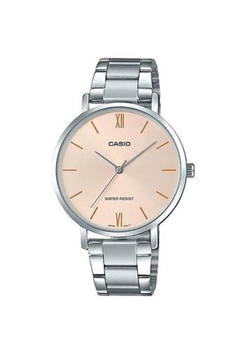 Casio silver Casio Stylish Small Bracelet Watch (LTP-VT01D-4B) BA9F2AC10D242FGS_1