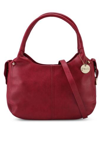 Mel&Co red Classic Shape Crossbody Handbag F0BF5ACF38C287GS_1