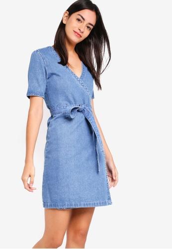 Buy ZALORA V-Neck Wrap Dress Online on ZALORA Singapore c4ec7bf3b