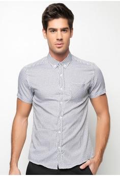 Dino Checkered Buttondown Shirt