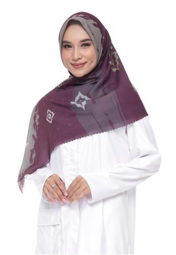 Panasia red and grey PANASIA X KAINREPUBLIK - Avia Maroon, Superfine (Superfine Voal Hijab Premium) B8DFBAA209B4D1GS_1