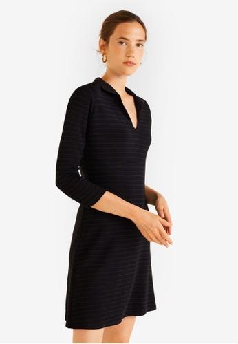 Mango black Striped Shirt Dress 5743AAA97F7266GS_1