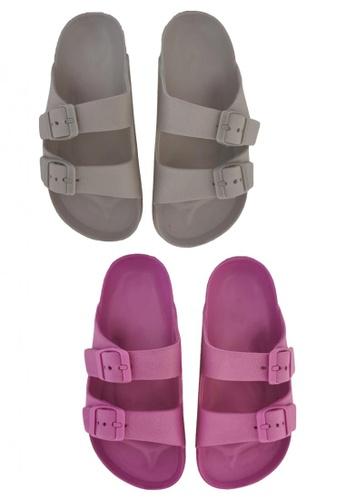 Pineapple grey and purple Kids' Classic Slip-ons (Bundle) 5F32EKS71DE54FGS_1