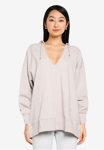 JEANASIS white Pullover Hoodie Sweatshirt D09A4AAD01F931GS_1