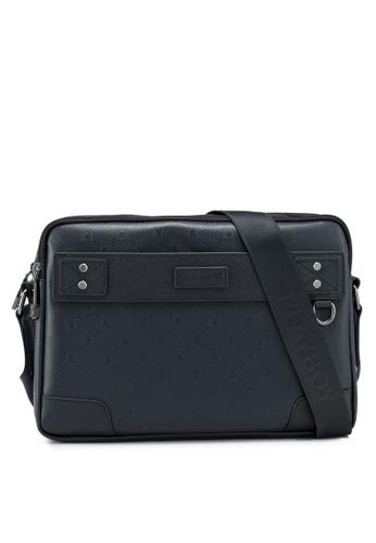 Playboy black Sling Bag 39BB9AC8B14302GS_1