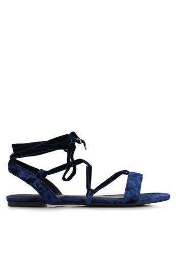 Velvet navy Velvet Sandals 28128SH742EC36GS_1