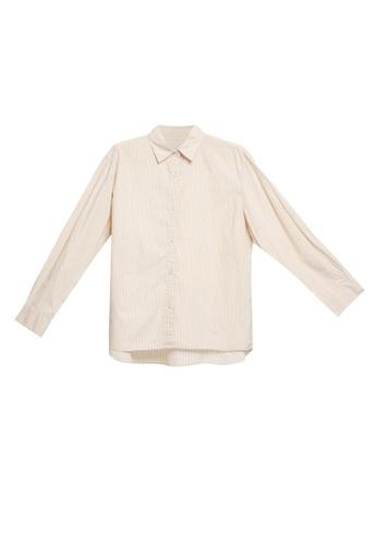 LOWRYS FARM brown Long Sleeves Buttoned Shirt 1108BAA67DE7E1GS_1