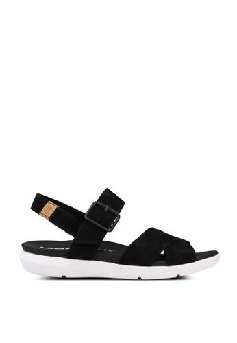 Timberland black Wilesport Sandals 1CC6FSHA958C42GS_1