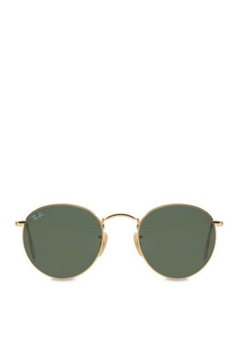 ray ban round sunglasses malaysia  ray ban yellow round metal sunglasses ra370gl08sbnsg_1