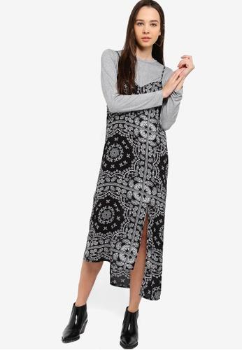 Something Borrowed black 2-In-1 Camisole Dress 3EE75AAA088F52GS_1