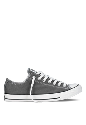 c9aff927be92 Converse grey Chuck Taylor All Star Canvas Ox Sneakers CO302SH40JRVSG 1