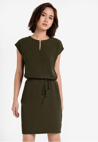 ZALORA green Essential Bar Detail Dress CD515ZZF41A4A0GS_1